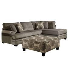 Albany Sectional Sofa Albany Smoke Gray Padded Microfiber Sectional Weekends Only