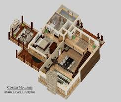 small house floor plans with porches 3 bedroom craftsman cottage house plan with porches 3d rendering