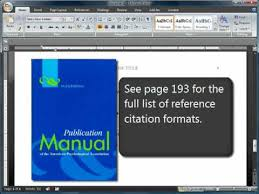 apa format and citations sixth 6th edition youtube