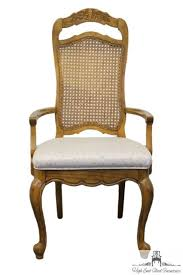 bernhardt country french tuscan cane back dining chairs set 5 vtg