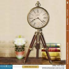 Howard Miller Grandfather Clock Value Distressed Classic Brass Tripod Mantel Clock
