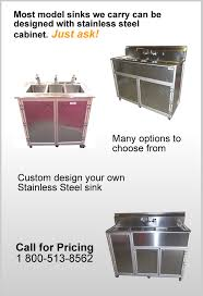 Stainless Steel Portable Sinks  MONSAM Enterprises Inc - Kitchen sink portable