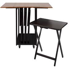 Drop Leaf Table Sets Mclachlan Drop Leaf Table With Tv Tray Table Set Reviews Joss
