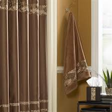 Brown And Gold Shower Curtains Shower Curtains Vinyl Fabric Croscill