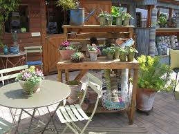 garden potting bench with sink painting a garden potting bench