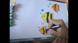 how to draw beautiful drawing how to draw beautiful fish in easy steps