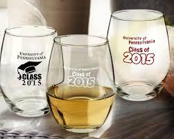 graduation wine glasses stemless wine glass favors sosfund