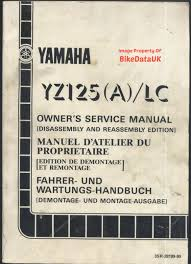 yamaha yz125 1989 1990 owners factory work shop manual book yz