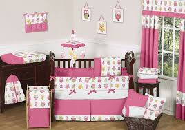 bedroom attractive owl theme baby bedding sets in white and