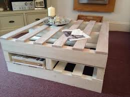 shabby chic pallet coffee table with storage 101 pallets