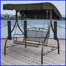 Swinging Outdoor Chair Metal Porch Swing Outdoor Patio Furniture Canopy Garden Seat