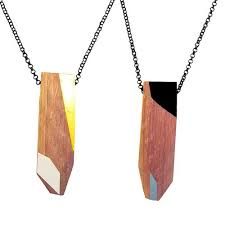 wooden necklaces recycled wood necklaces by treehorn design wood necklace