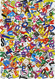 handmade alphabet collage of magazine letters stock photo picture