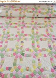 wedding ring quilt for sale 15 best wedding ring quilts images on