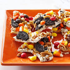 Kraft Halloween Appetizers Halloween Candy Bark Recipe Taste Of Home
