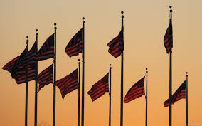 American Flag Sunset Mlewallpapers Com Flags At Sunset I