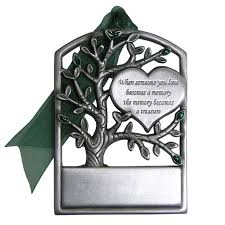 memorial ornaments pewter