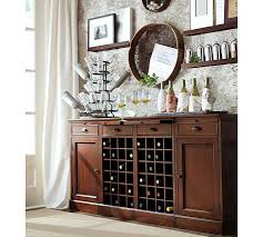 Bar Mirror With Shelves by Modular Bar Buffet With 2 Wine Grid Bases U0026 2 Cabinets Pottery Barn