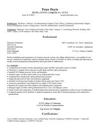 Sample Resume Objectives For Network Engineer by Telecommunications Service Technician Cover Letter