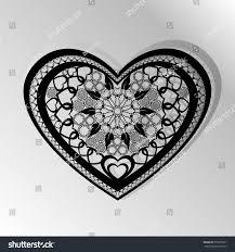 cutting card laser cut heart vector stock vector 575370571