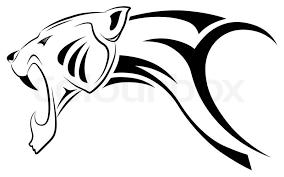 vector leopard tribal tattoo stock vector colourbox