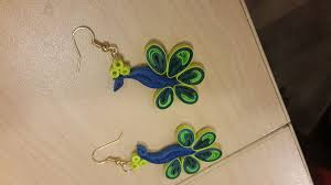 quilling earrings images quilled peacock earring 3 steps