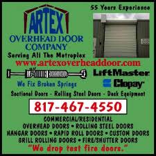Artex Overhead Door Arlington Tx Door Overhead Type Garage Doors Openers Artex