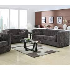 leather livingroom set modern living room sets allmodern