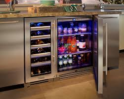 built in undercounter wine cooler side by side wine cooler