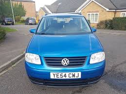 volkswagen touran s 1 6 mpv 5dr petrol manual 7 seats blue 2004