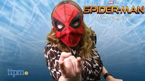marvel spider man homecoming flip up hero mask from hasbro youtube