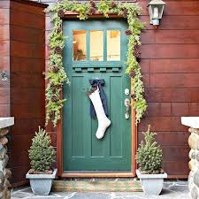 How To Decorate Your Home For Christmas Inside 15 Festive Ways To Decorate Your Front Door Brit Co