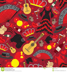 pattern with symbols of spain for use in design stock vector