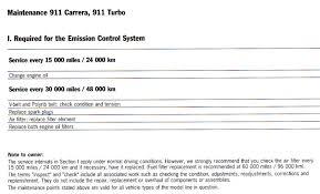 porsche 911 maintenance schedule 993 major service intervals pelican parts technical bbs