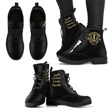 womens black moto boots harry potter women u0027s leather boots hogwarts houses u2013 ineffable shop