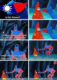 Spongebob Wallet Meme - photo of the day man ray tries to teach patrick star about taiwan