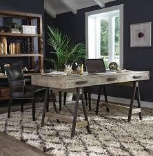 Juliana Sawhorse Reclaimed Wood Desk Zin Home - Classic home furniture reclaimed wood