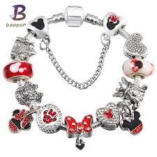 pandora beaded bracelet images Baopon children 39 s fashion jewelry mickey crystal pandora bracelet jpg