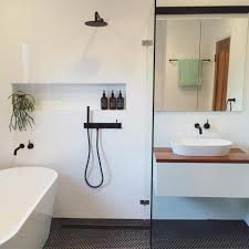 total transformation hamptons style haven hexagons house and layout for small bathroom