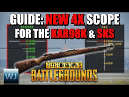 pubg 4x download video guide how to use the new 4x scope with the kar98k