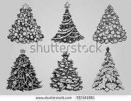 White Christmas Tree Decorations Pack by Christmas Swirl Decoration Vector Pack Download Free Vector Art