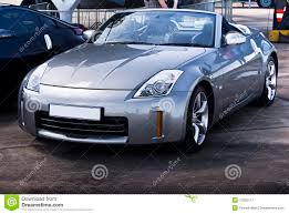 silver nissan nissan 350z silver convertible royalty free stock photography