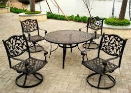 How To Refinish Wrought Iron Patio Furniture by Get A Quality Wrought Iron Patio Set U2013 Decorifusta