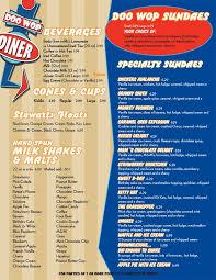 corvette diner menu prices diner menu pinteres