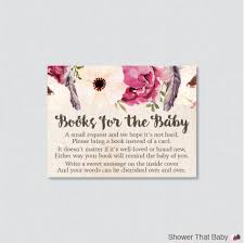 bring a book instead of a card poem baby shower baby shower bring a book boho baby shower printable
