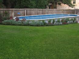 swimming pool above ground oval shapes newest landscaping ideas