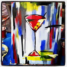 martini painting paint nite the crockpot chronicles