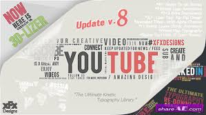 videohive 3d kinetic typography titles free after effects