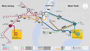 Jfk Terminal Map Jfk Airtrain Map Official Map Jfk Airport Airtrain Map New York