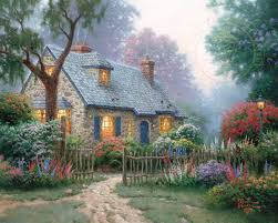 Cottage by Foxglove Cottage U2013 Limited Edition Art The Thomas Kinkade Company